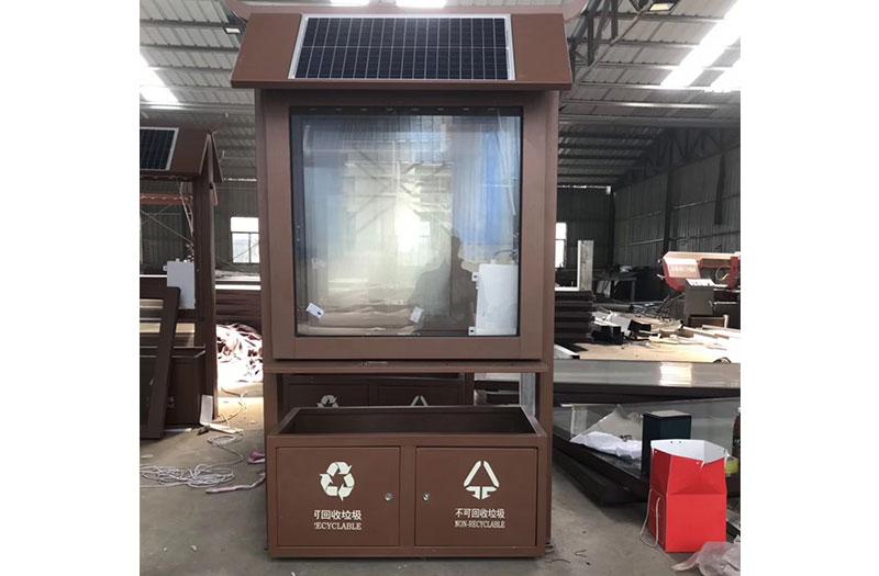 大方县公园复古太阳能垃圾箱发货!